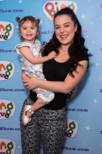 Dani Harmer with her daughter Avery at The Gala Event for the first ever Bing Live UK Tour at Albans Arena on 24 June 2018 Photo: JN Davidson/SilverHub 0208 004 5359 sales@silverhubmedia.com