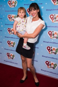 Verity Rushworth with her daughter Amelia at The Gala Event for the first ever Bing Live UK Tour at Albans Arena on 24 June 2018 Photo: JN Davidson/SilverHub 0208 004 5359 sales@silverhubmedia.com